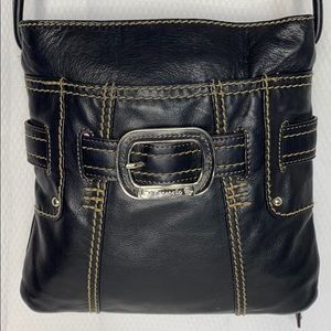 Tignanello Black leather cross body bag